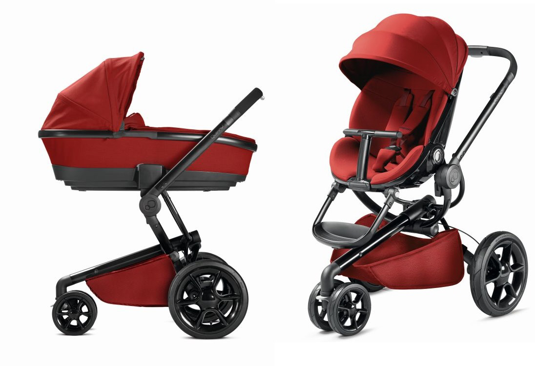 Quinny Moodd Incl Dreami Carrycot Attachment 2016 Red