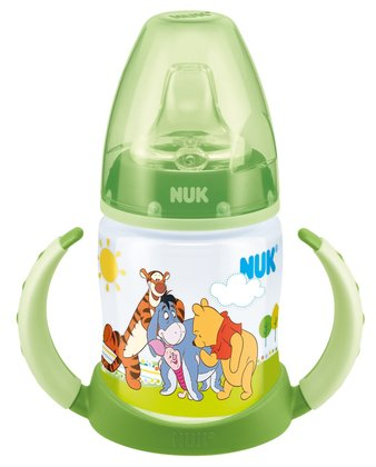 NUK Disney Winnie the Pooh First Choice trainer bottle -  The NUK 150 ml First Choice drinking learning bottle with cute Winnie the Pooh design is ideal for the transition from mother´s breast to independent drinking