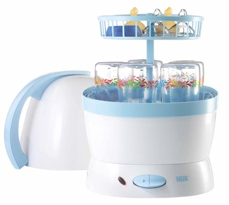NUK Vapor-sterilizer 2 in 1 - For baby bottles clean and healthy food without spending time.