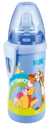 NUK 迪士尼維尼熊水瓶 - The NUK Disney Winnie the Pooh Active Cup with its leak-proof soft spout made ​​of silicone is extremely robust and durable.
