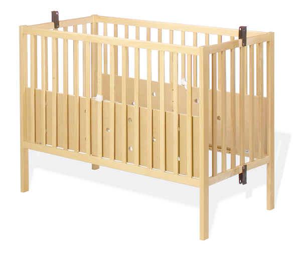 Pinolino kinderbett fritz klappbar 60x120 buche natur - Kinderbett platzsparend ...