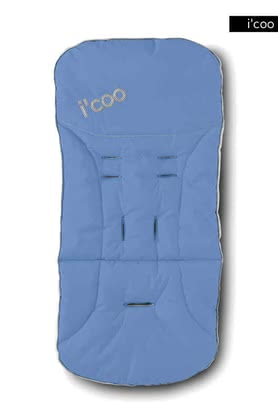icoo 2 way seatpad for Pluto 2011, Blue - 大图像