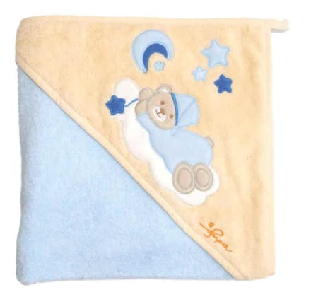 Bieco bath towel, Purzelbärchen light blue 2012 - большое изображение