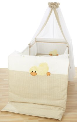 Alvi Cot set with embroidery Sleeping Duck 2014 - large image