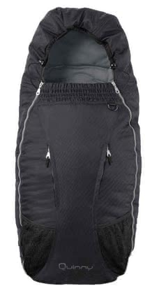 Quinny footmuff for Speedi 2011, Raven - Quinny Speedi footmuffFootmuff suitably to the Quinny collection, upper top removable, height: 90 cm, width: 30 cm, can be fixed with 5 point harness,