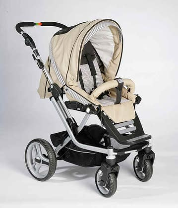 Teutonia Kombikinderwagen Mistral S, Trend-Design 4150 - Teutonia Mistral S Mistral S - the handyman of all pushchairs Useable for newborn babies - adapted for all Teutonia carrying bags (carrying bags addition...