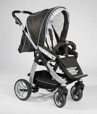Teutonia Cosmo, Trend-Design 4125 - Cosmo - the newest model! Useable from birth - for all Teutonia carrying bags (carrying bagsas supplies available - not included with the stroller!
