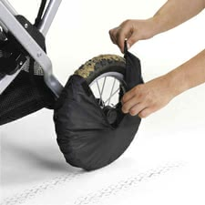 Teutonia Wheel cover set - The Teutonia protective wheel covers are practical protection from dirt in the car and stairwell