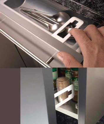 reer Cabinet and drawer latch with finger-trap protection 2015 - 大圖像