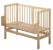 Alvi Beistellbett, natur - Alvi side bed, nature - so that your child can sleep Base plate in plywood beech with louvers, adjustable through adjustable angle at each bed, Safety wa...