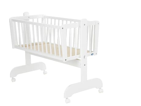Alvi Cradle Sina -   The Alvi cradle Sina has a lying area of 40x90cm and 4 braked rolls and make a flexible use possible.