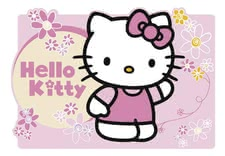 5909 - manteles lavables, Con motivo de la popular: Hello Kitty,