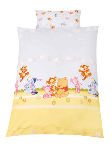 z llner bettw sche baby pooh and friends 80x80 35x40 buy. Black Bedroom Furniture Sets. Home Design Ideas
