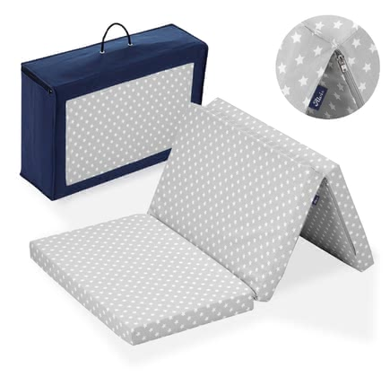 Alvi Travel cot mattress, standard -  Easy and quick to fold-out provides the Alvi travel cot mattress a cozy and comfortable place to sleep on the go.