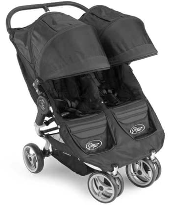 Baby Jogger City Mini Double, Black/Black 2012 - Image de grande taille