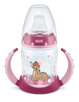 NUK First Choice Learner Bottle, 150 ml - Para el aumento de la seguridad, la botella de bebida NUK First Choice está equipada con la nueva pantalla de control de temperatura.