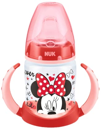 NUK FIRST CHOICE trainer bottle Disney Mickey, 150ml - The NUK FIRST CHOICE learn-to-drink bottle Disney Mickey supports your little sweetheart during the transition from the mother breast or feeding bottle t...