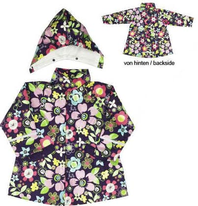 Regenmantel Flora, violett - The flowery raincoat company Playshoes protects your favorite weather and looks damn good too even. The CAP can easily on and off are made off.