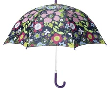 Playshoes umbrella for children Flora, violet -  The flowery umbrella protects your sweetheart from rain and storm