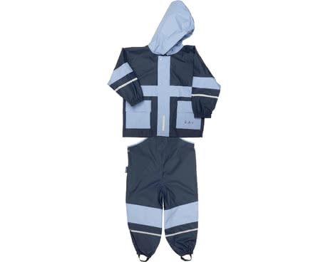 Playshoes rain suit, basic -  For bad weather days the 2-piece rain suit is just the right clothing that protects your favorite from wind and weather