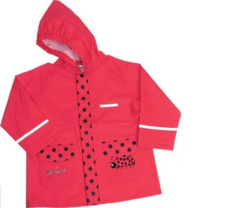 Regenmantel, Marienkäfer - The raincoat in the Ladybug design makes small girls hearts beat faster. Taped seams make this rain coat waterproof and windproof.