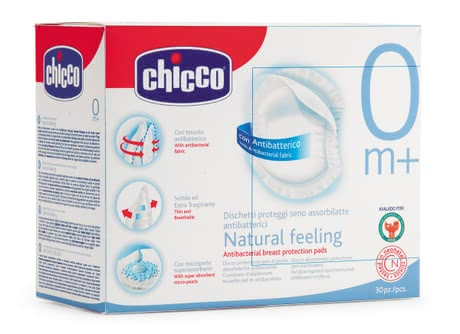"Chicco Antibacterial Breast Protection Pads ""Natural Feeling""30 2012 - большое изображение"