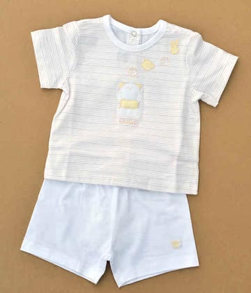 Chicco Set of 2 T-Shirt + Shorts - 060 nature 2012 - Image de grande taille