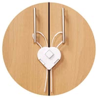 Reer Cabinet door guard with flexible band - The Reer cabinet lock with a flexible band offers easy assembly and your sweetie a lot of protection