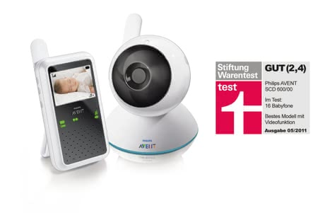 philips avent babyphone video monitor scd600 2012 online kaufen bei kidsroom wohnen schlafen. Black Bedroom Furniture Sets. Home Design Ideas
