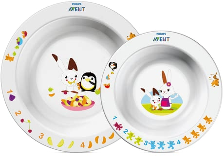 AVENT Bowl set -  With the colorful Avent dishes every meal makes fun.
