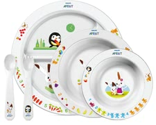 AVENT Large mealtime training set -  With the colorful Avent dishes makes every meal fun.