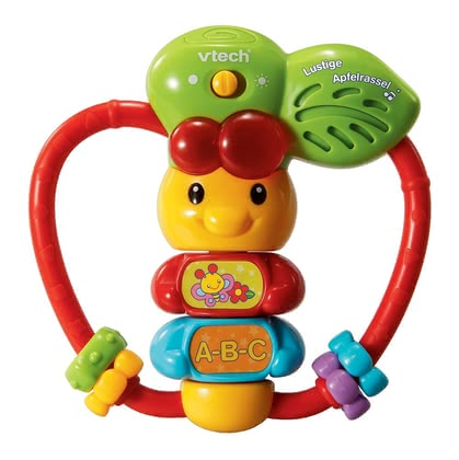 VTech Funny Apple rattle -  The VTech Funny apple rattle learns your first treasure letters and numbers and is suitable for your favorite from the 6th month of life