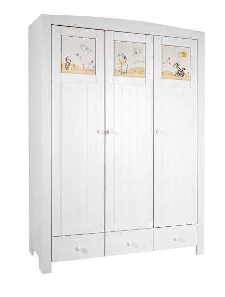 z llner 3 t riger kleiderschrank disney adorable pooh. Black Bedroom Furniture Sets. Home Design Ideas