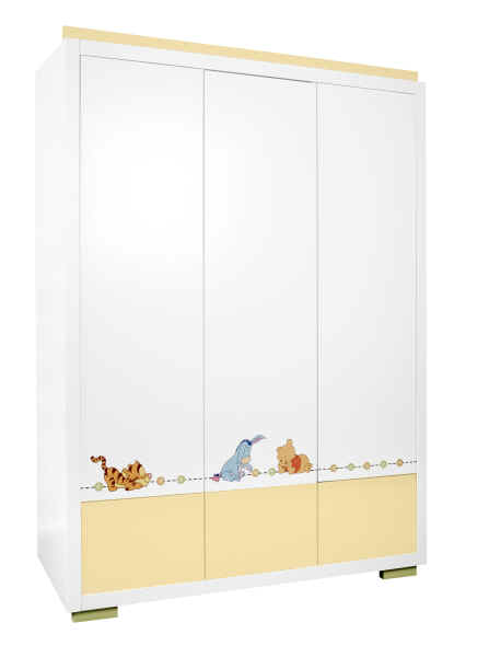 z llner 3 t riger kleiderschrank disney stylished pooh kidsroom. Black Bedroom Furniture Sets. Home Design Ideas
