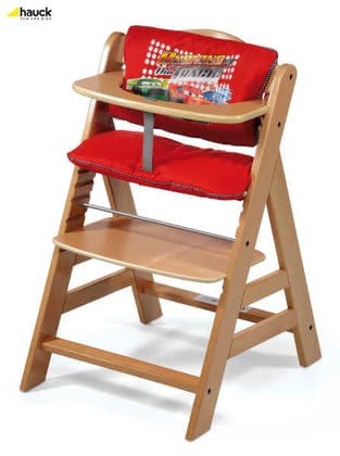 Hauck Highchair Pad, Cars - large image