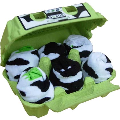 6 Paar Soggs in lustiger Verpackung, Cute Cow Edition - large image