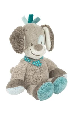 Nattou soft animal toy Cyril - The cute plush toy includes a small rattle, made of cuddly soft Nicki-fabric and size of approx. 20 cm.