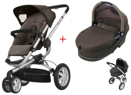 Quinny BUZZ 3 Kinderwagen 2011, Brown Boost + Dreami - большое изображение