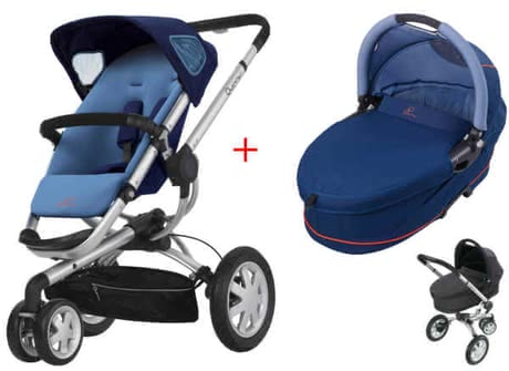 Quinny BUZZ 3 Kinderwagen 2011, Electric Blue + Dreami - large image