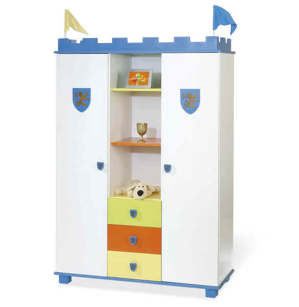 pinolino kleiderschrank ritter artus online kaufen bei kidsroom. Black Bedroom Furniture Sets. Home Design Ideas