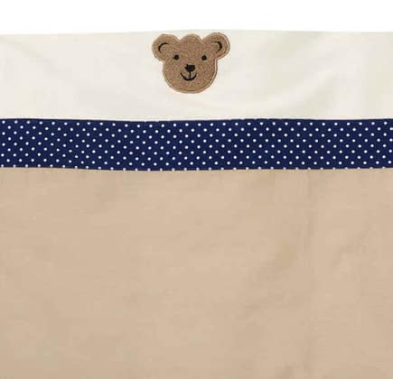 Alvi Wiegen-Set, Bär Dots blau - 3-piece set includes: Bed linen (35 x 40 / 80 x 80), Weighing sky, padded crib sheets, suitable for weighing with a lying area of 90 x 40 cm,  Note: crad...
