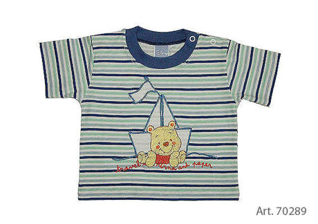 Baby T-Shirt Winnie the Pooh striped - large image
