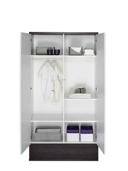 schardt 2 t riger kleiderschrank v i p wei dunkelbraun kidsroom. Black Bedroom Furniture Sets. Home Design Ideas