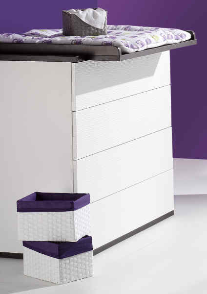 schardt wickelkommode v i p wei dunkelbraun online kaufen bei kidsroom. Black Bedroom Furniture Sets. Home Design Ideas