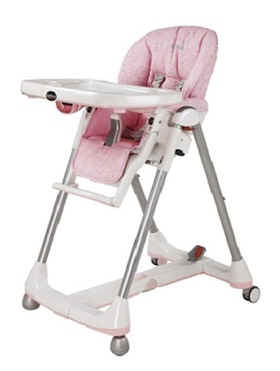 "High Chair ""Prima Papa Diner"" by Peg Perego Rosé - 大图像"