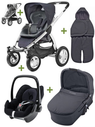 Maxi Cosi Mura 4 2011, Comfort Set Plus Pebble Total Black - большое изображение