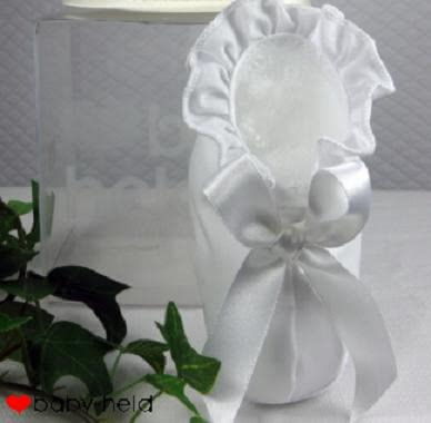 Baby-Held christening shoes, white - 大图像