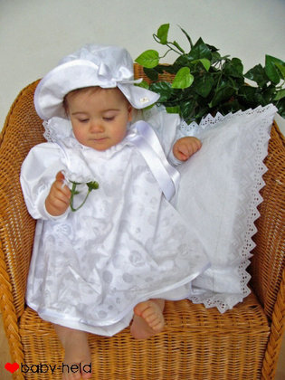 "Baby-Held christening dress ""Javira"", short - 大图像"