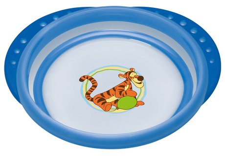 NUK Disney Winnie the Pooh Easy Learning trainer plate with lid blau 2017 - large image