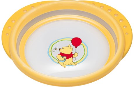 NUK Disney Winnie the Pooh Easy Learning trainer plate with lid - The NUK Disney Easy Learning Learner plate is perfect for cooking, feeding and independent food!
